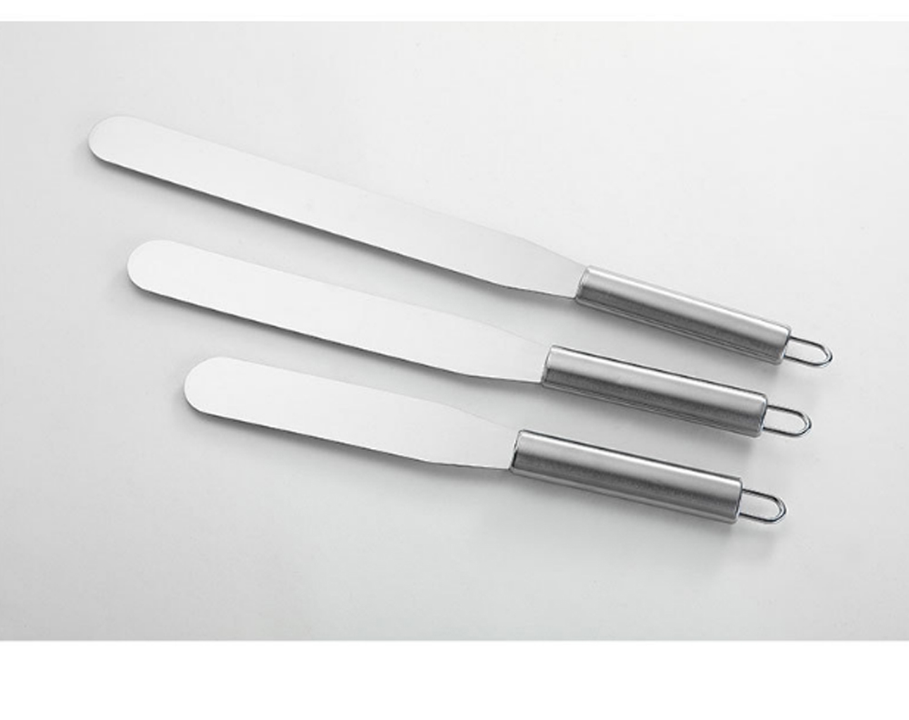 Kiss Knife Cake Tools, Stainless Steel Spatula Cake Cream Spatula Scraper, 8 Inch and 10 Inch 2