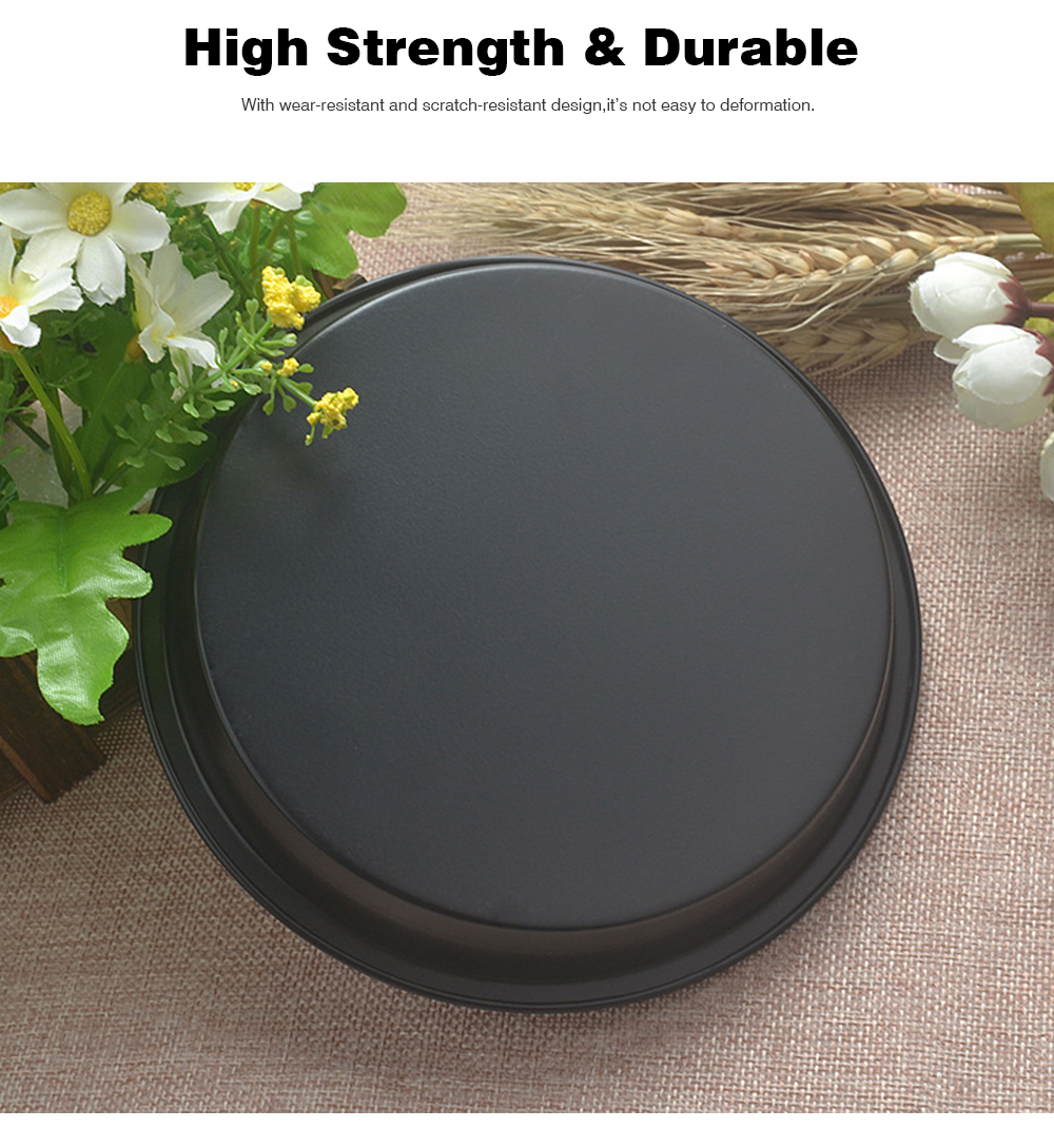 Thick Round 6 Inch Carbon Steel Non-stick PIZZA Baking Tray for DIY Household Baking Tray Baking Mold Oven 8