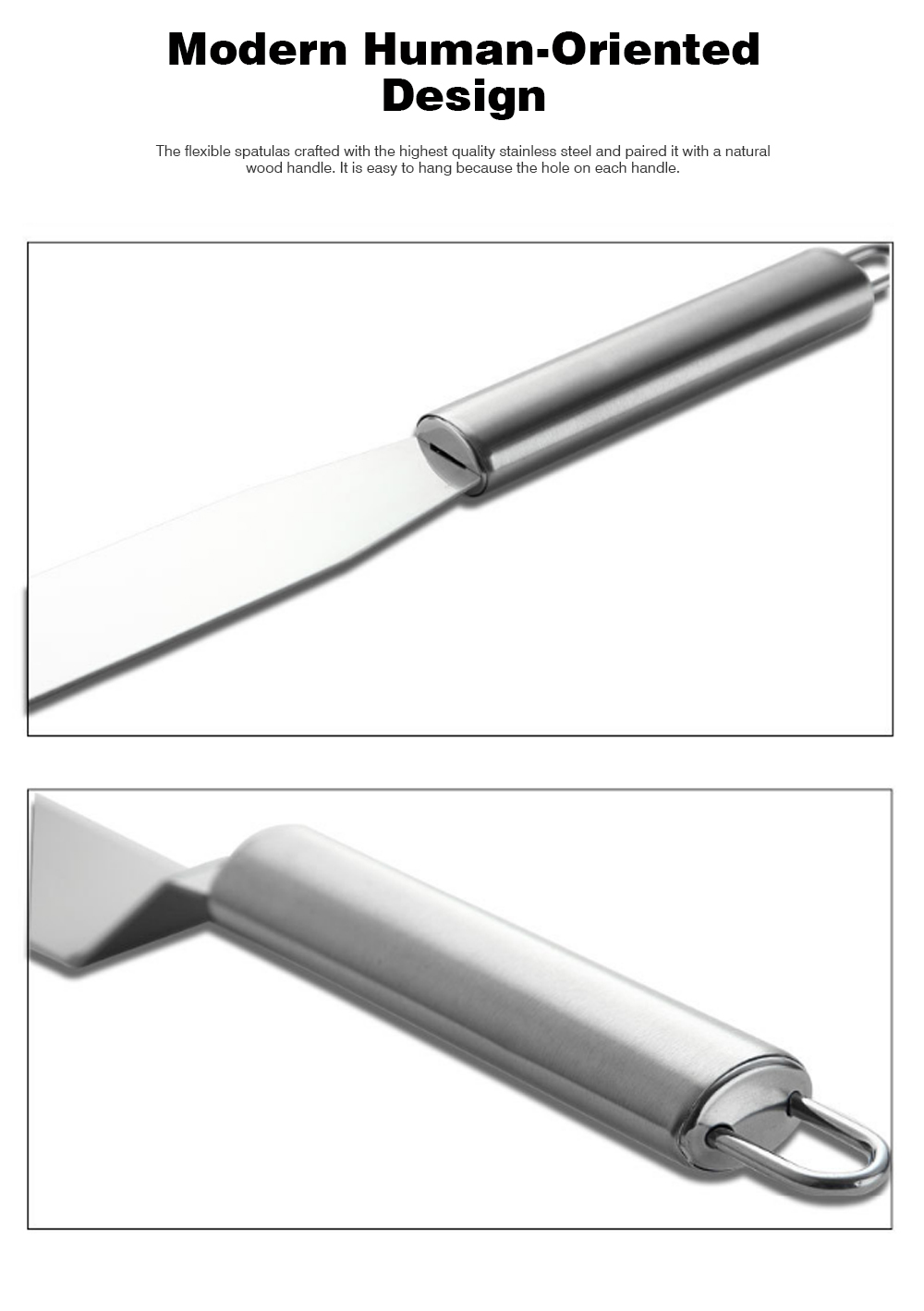 Kiss Knife Cake Tools, Stainless Steel Spatula Cake Cream Spatula Scraper, 8 Inch and 10 Inch 7