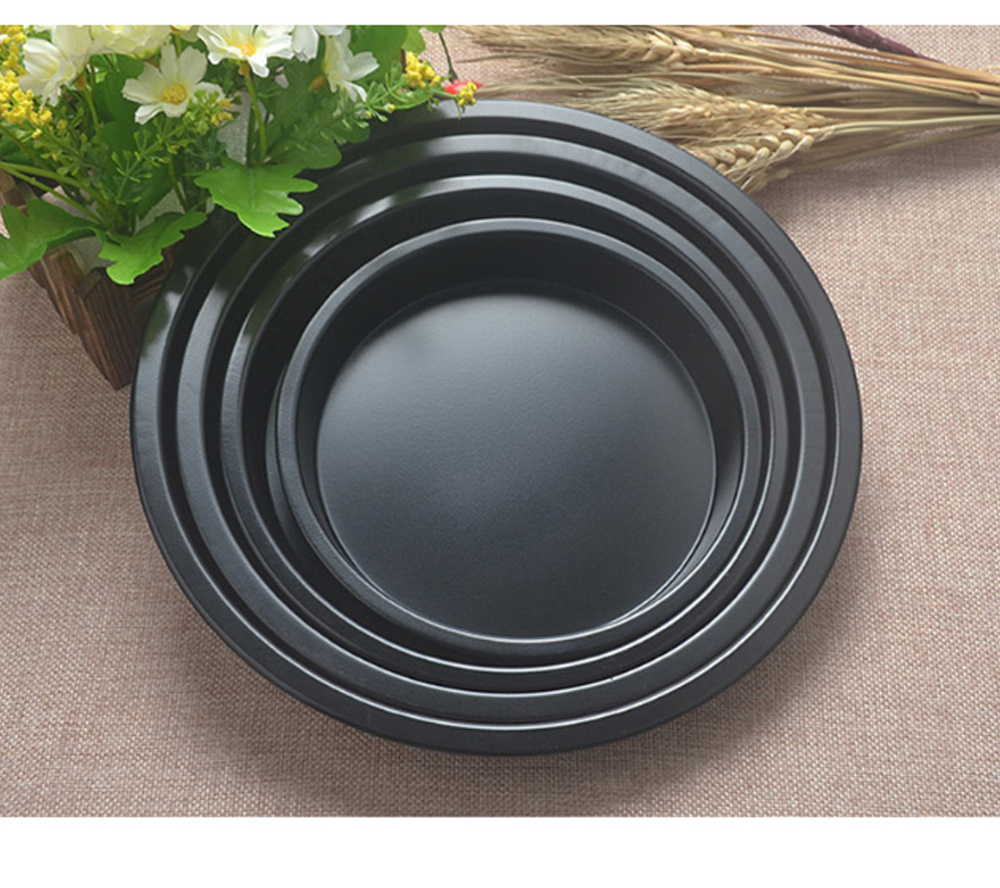 Thick Round 6 Inch Carbon Steel Non-stick PIZZA Baking Tray for DIY Household Baking Tray Baking Mold Oven 5