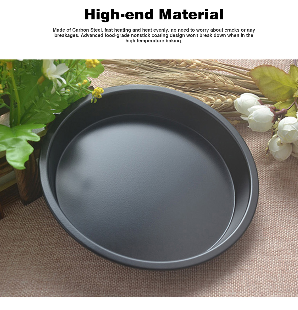 Thick Round 6 Inch Carbon Steel Non-stick PIZZA Baking Tray for DIY Household Baking Tray Baking Mold Oven 2