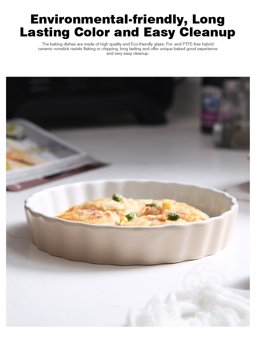 Cookie Sheet Baking Tray - Golden 11x11 inches Square Non-stick Bake Ware Cake Mould Biscuit Nougat Bakeware 6