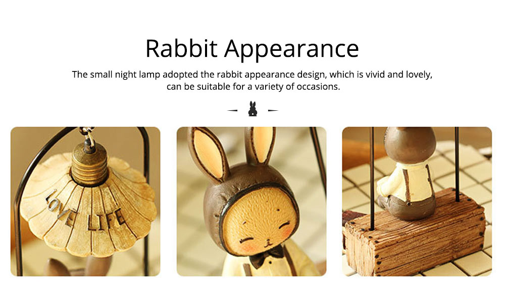 Creative Jenny Rabbit Toy Night Light, Decorative Table Lamp Birthday Gifts for Kids Baby Girls Boys 5
