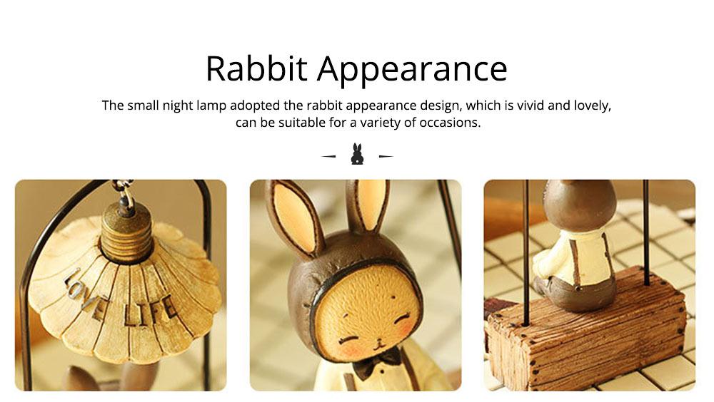 Creative Jenny Rabbit Toy Night Light, Decorative Table Lamp Birthday Gifts for Kids Baby Girls Boys 11