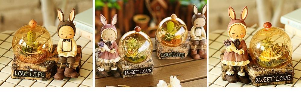 Creative Jenny Rabbit Toy Night Light, Decorative Table Lamp Birthday Gifts for Kids Baby Girls Boys 7