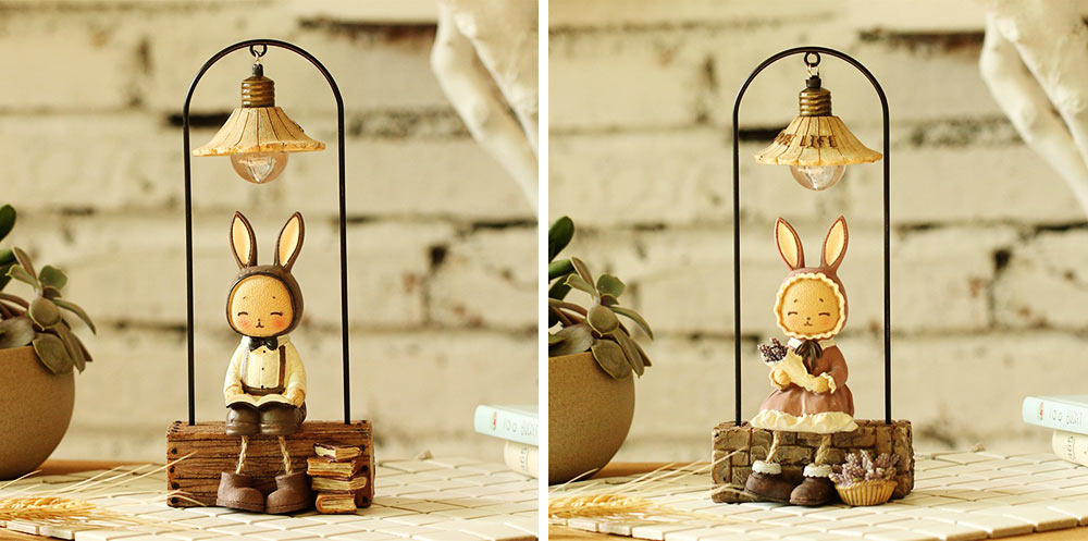 Creative Jenny Rabbit Toy Night Light, Decorative Table Lamp Birthday Gifts for Kids Baby Girls Boys 8
