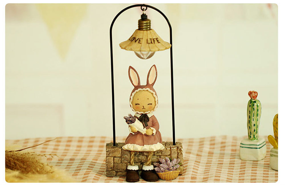 Creative Jenny Rabbit Toy Night Light, Decorative Table Lamp Birthday Gifts for Kids Baby Girls Boys 6