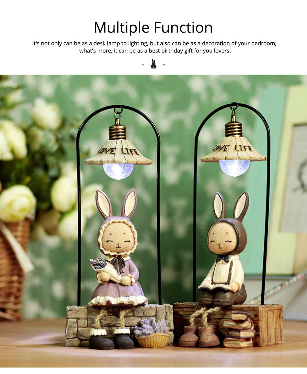 Creative Jenny Rabbit Toy Night Light, Decorative Table Lamp Birthday Gifts for Kids Baby Girls Boys 10