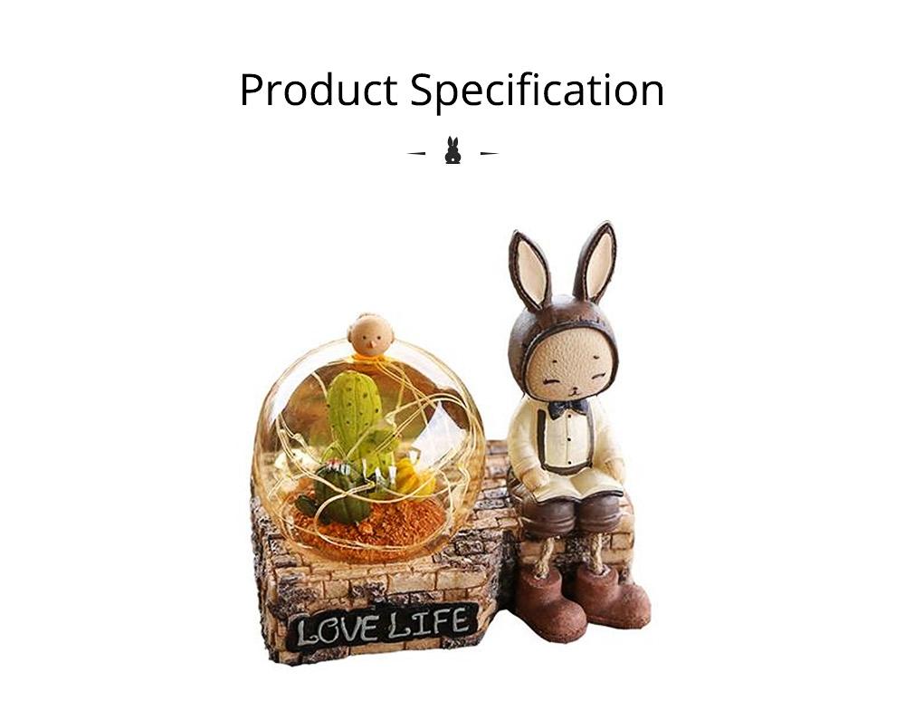 Creative Jenny Rabbit Toy Night Light, Decorative Table Lamp Birthday Gifts for Kids Baby Girls Boys 17