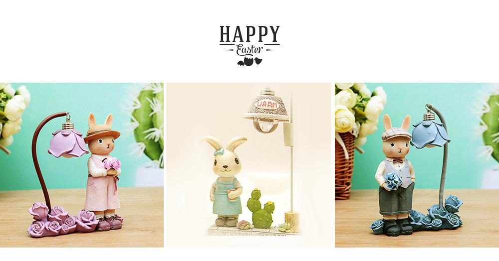 Creative Jenny Rabbit Toy Night Light, Decorative Table Lamp Birthday Gifts for Kids Baby Girls Boys 15