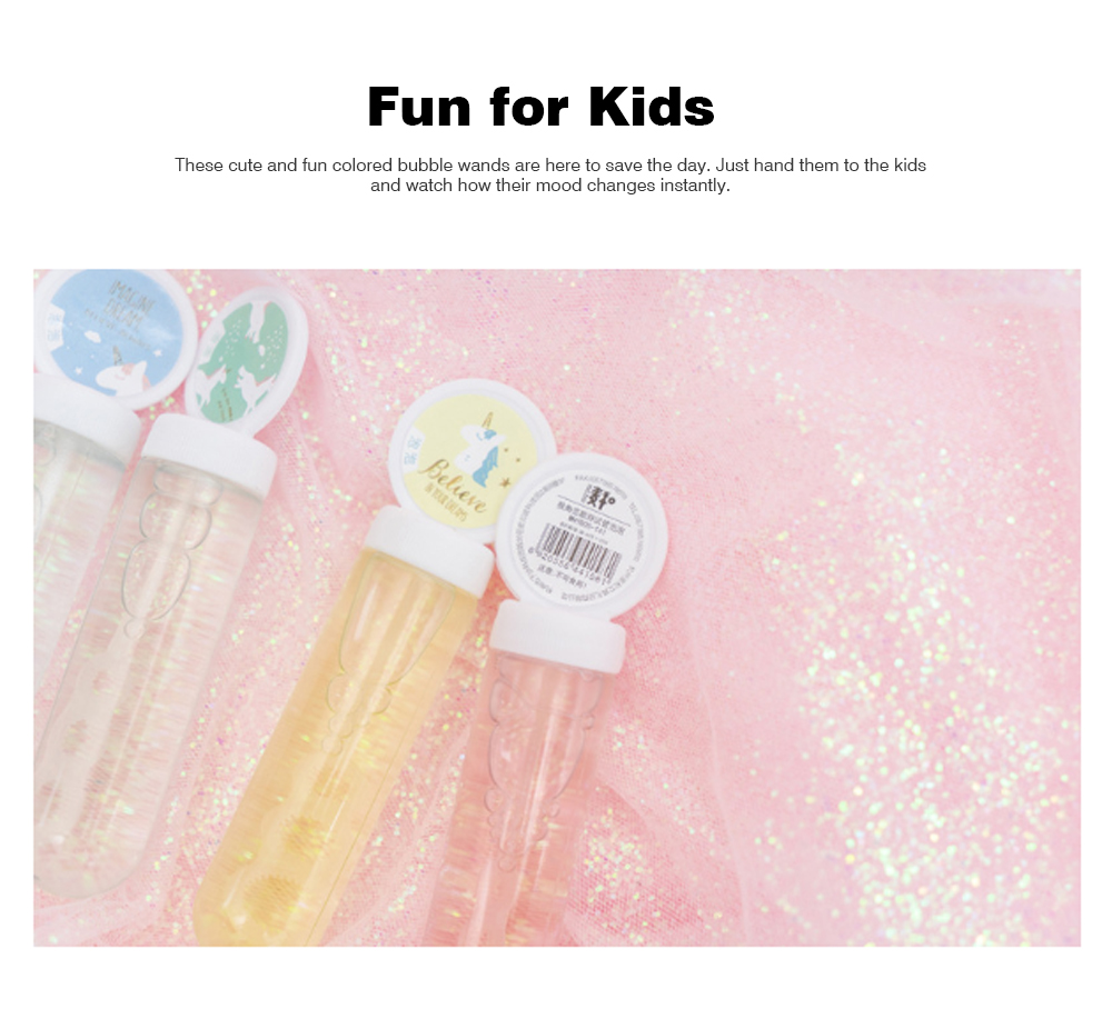 Mini Blowing Bubble Water Toys with Love Song Wheat and One-horned and Fat Test Tube Design for Students 4