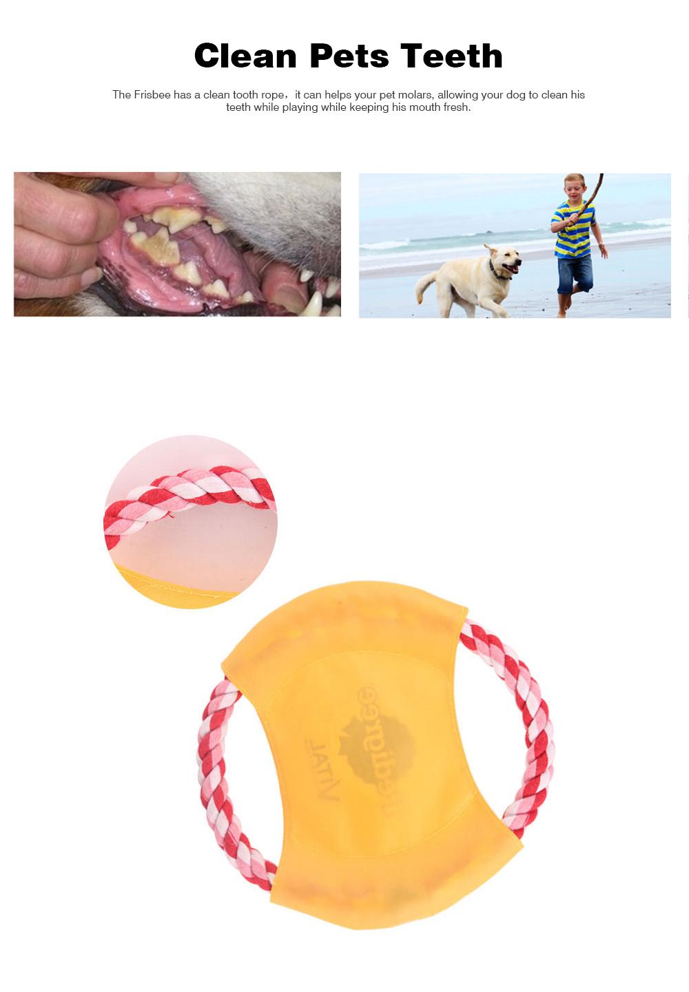 Pet Dog Cotton Rope Waterproof Pet Frisbee, Color Canvas Bite Dog Discs for Pet Training 4