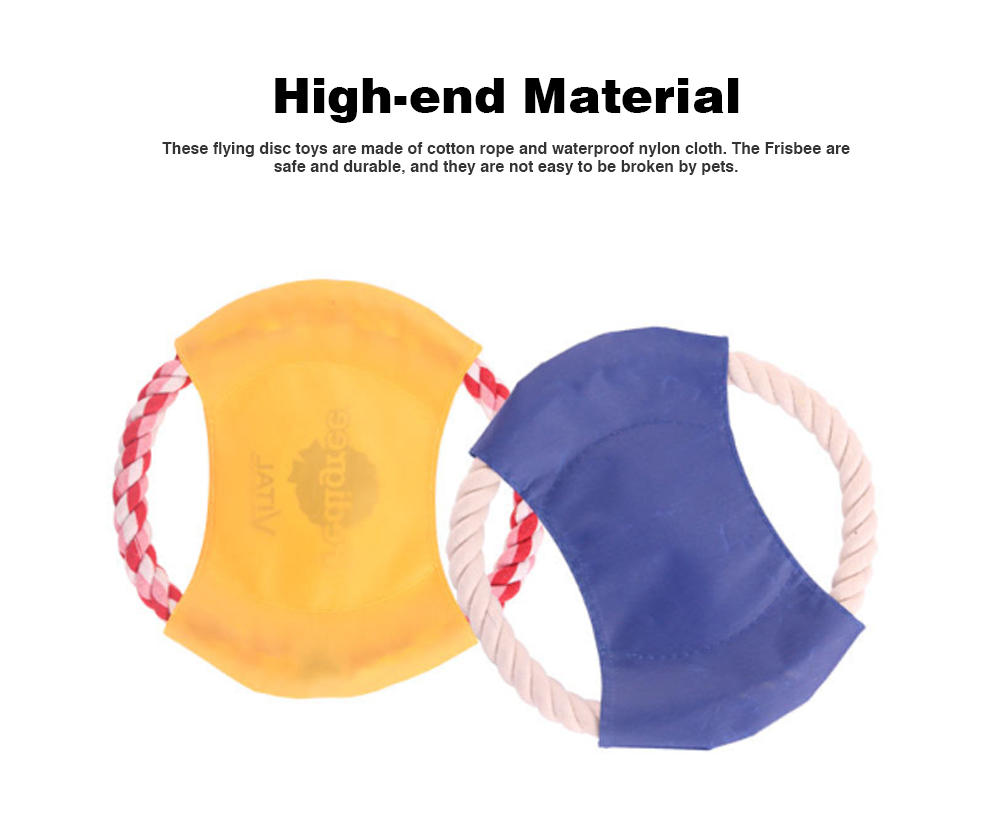 Pet Dog Cotton Rope Waterproof Pet Frisbee, Color Canvas Bite Dog Discs for Pet Training 1
