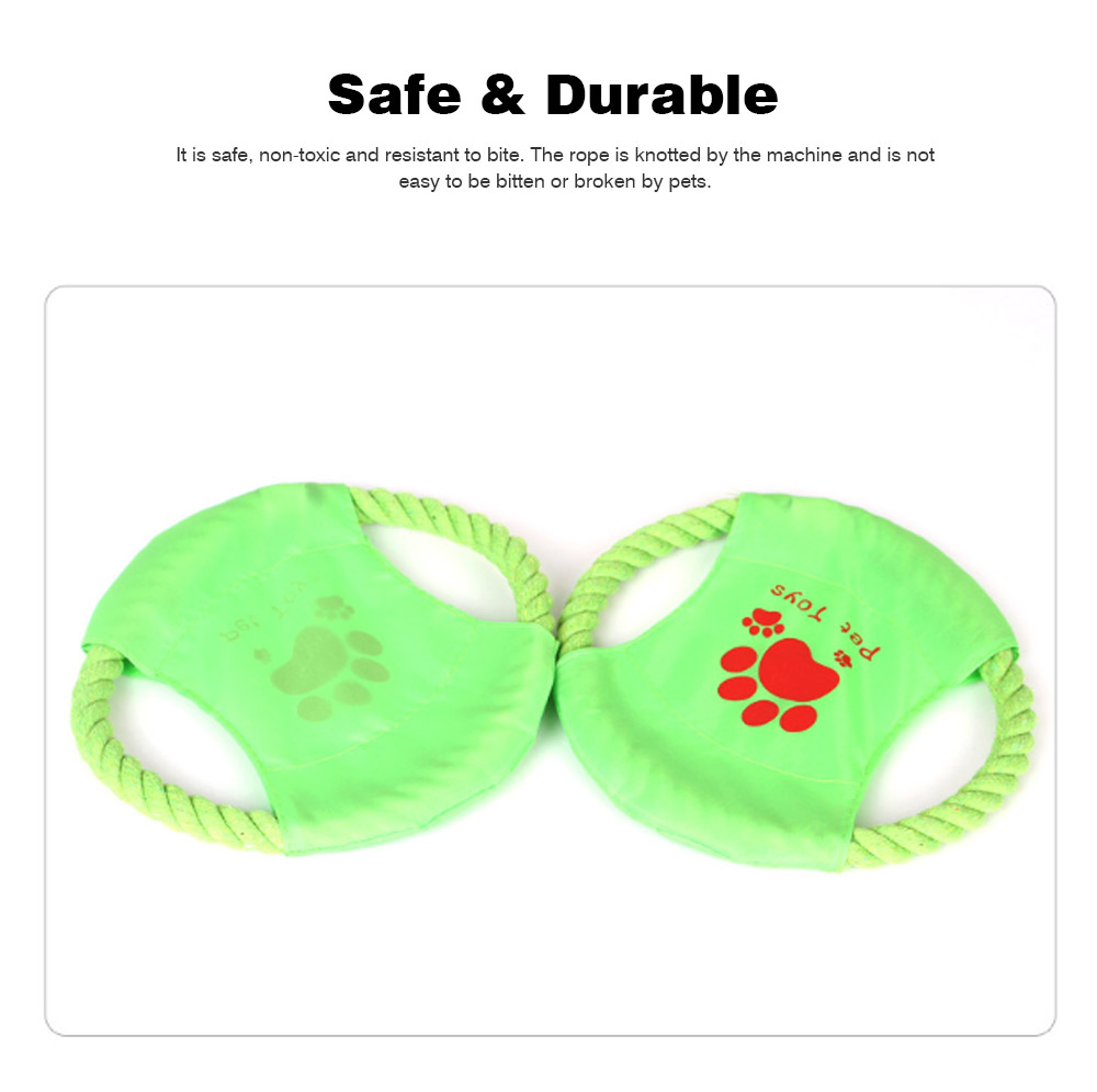 Big Dog Cotton Rope Toy Pet Frisbee, Wear-resistant for Pet Interaction Training Molars Outdoors 4