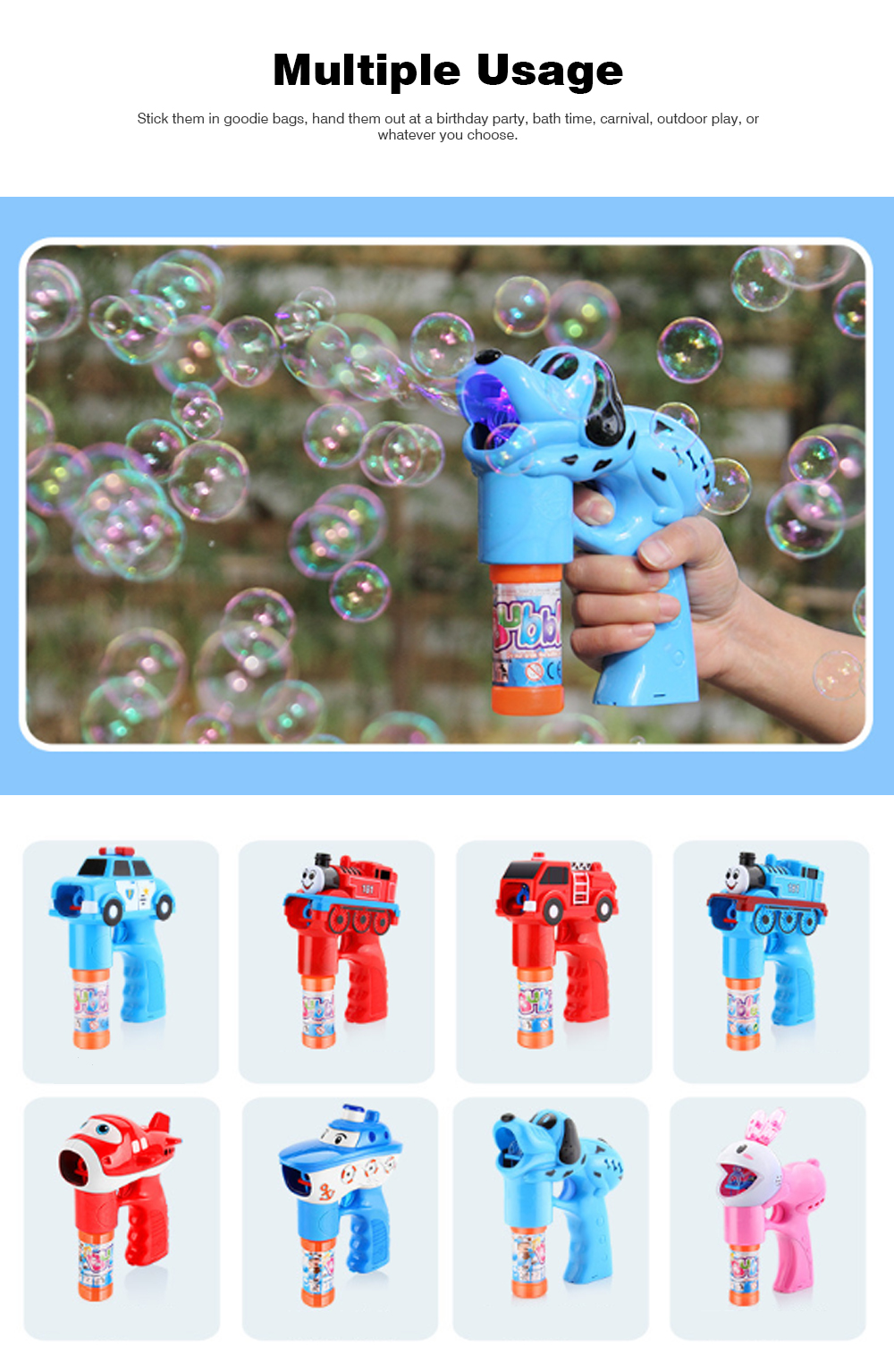 Bubble Gun Toy For Blowing Bubble, Led Bubble Gun With Electric Music 7