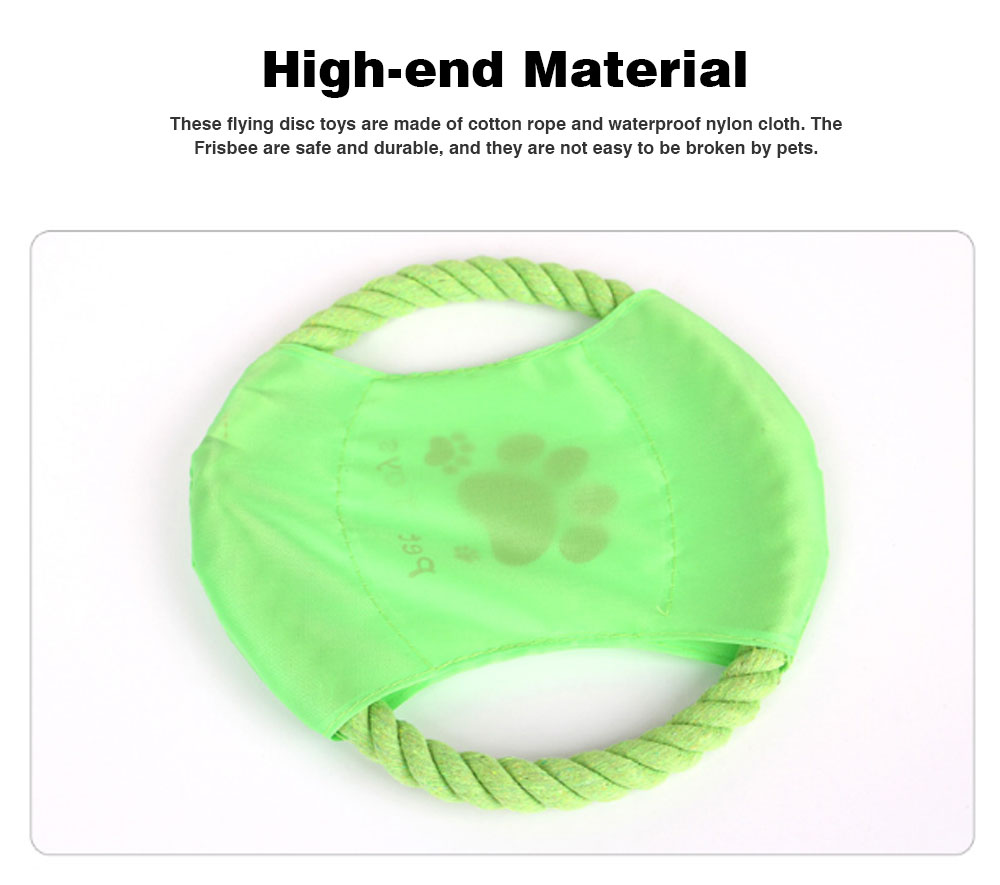 Big Dog Cotton Rope Toy Pet Frisbee, Wear-resistant for Pet Interaction Training Molars Outdoors 1