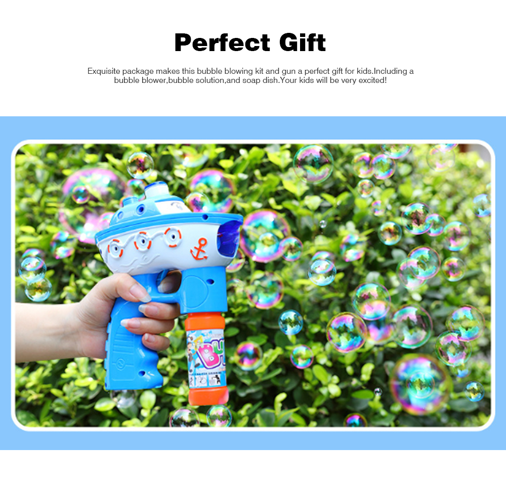 Bubble Gun Toy For Blowing Bubble, Led Bubble Gun With Electric Music 6