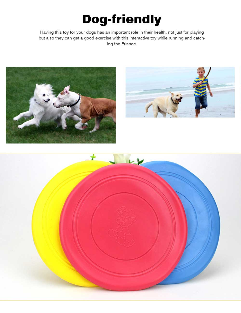 Dog Silicone Soft Frisbee Toy Bite Resistant for Throwing Interactive Pets Training Outdoors 3