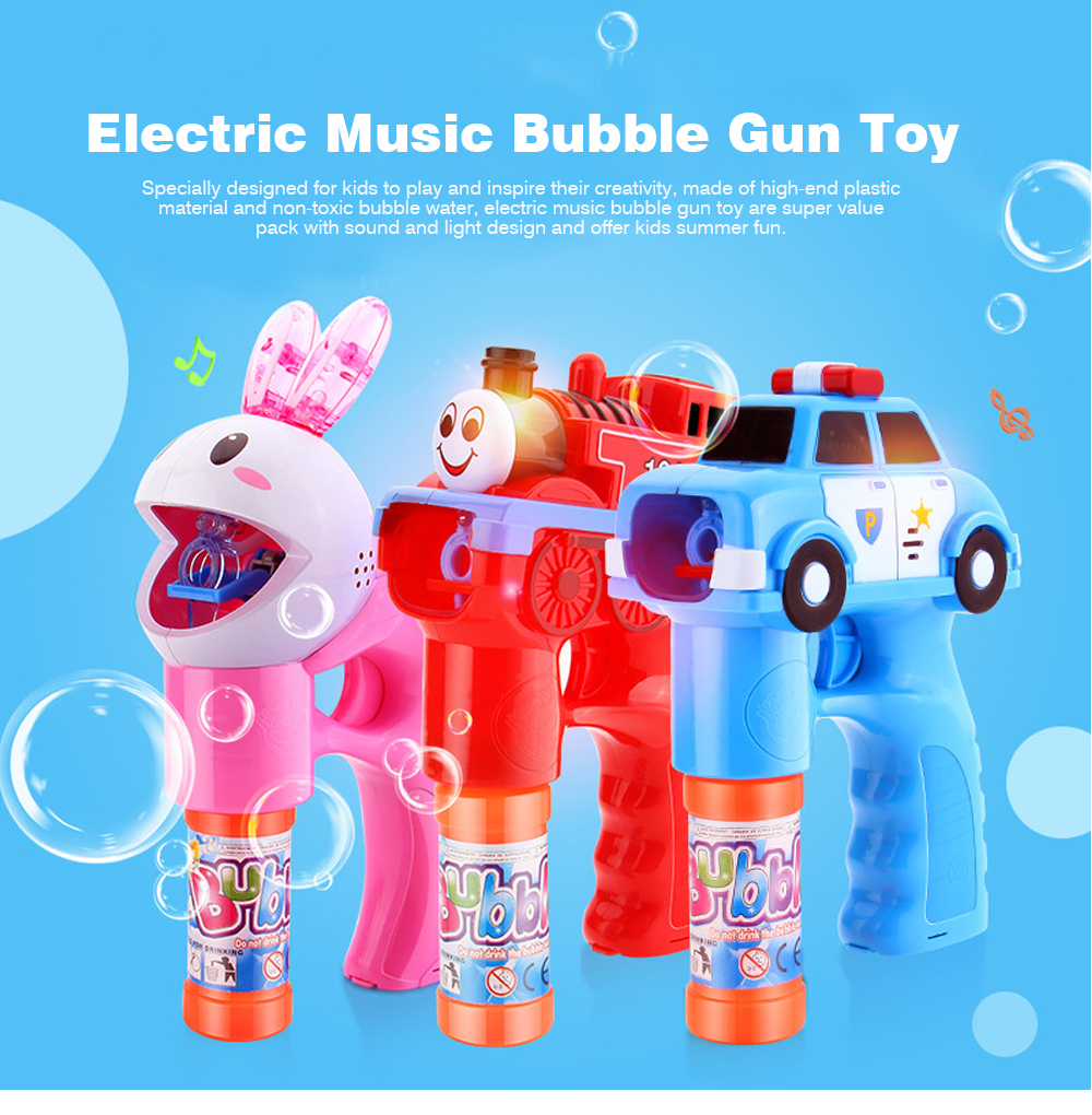 Bubble Gun Toy For Blowing Bubble, Led Bubble Gun With Electric Music 0