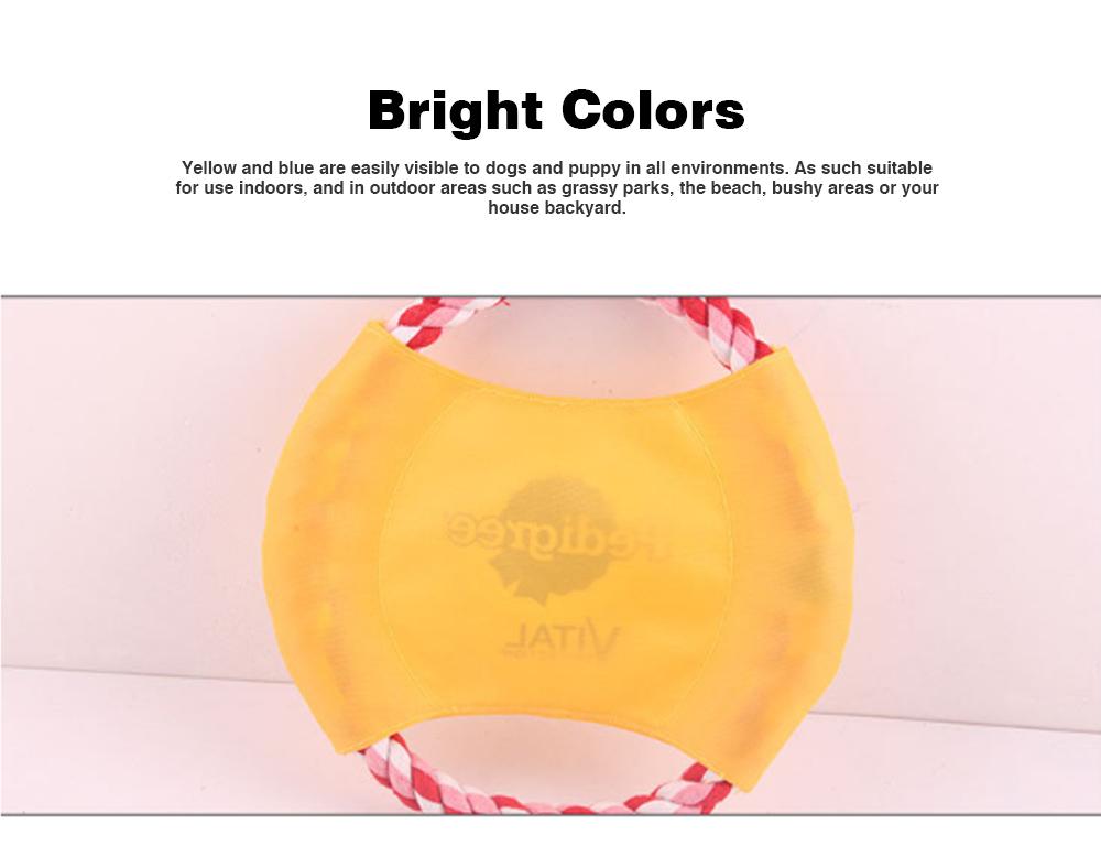 Pet Dog Cotton Rope Waterproof Pet Frisbee, Color Canvas Bite Dog Discs for Pet Training 2