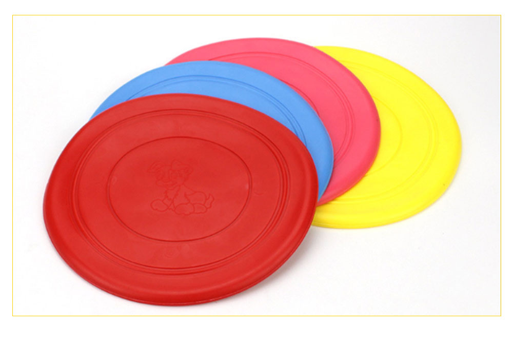 Dog Silicone Soft Frisbee Toy Bite Resistant for Throwing Interactive Pets Training Outdoors 5