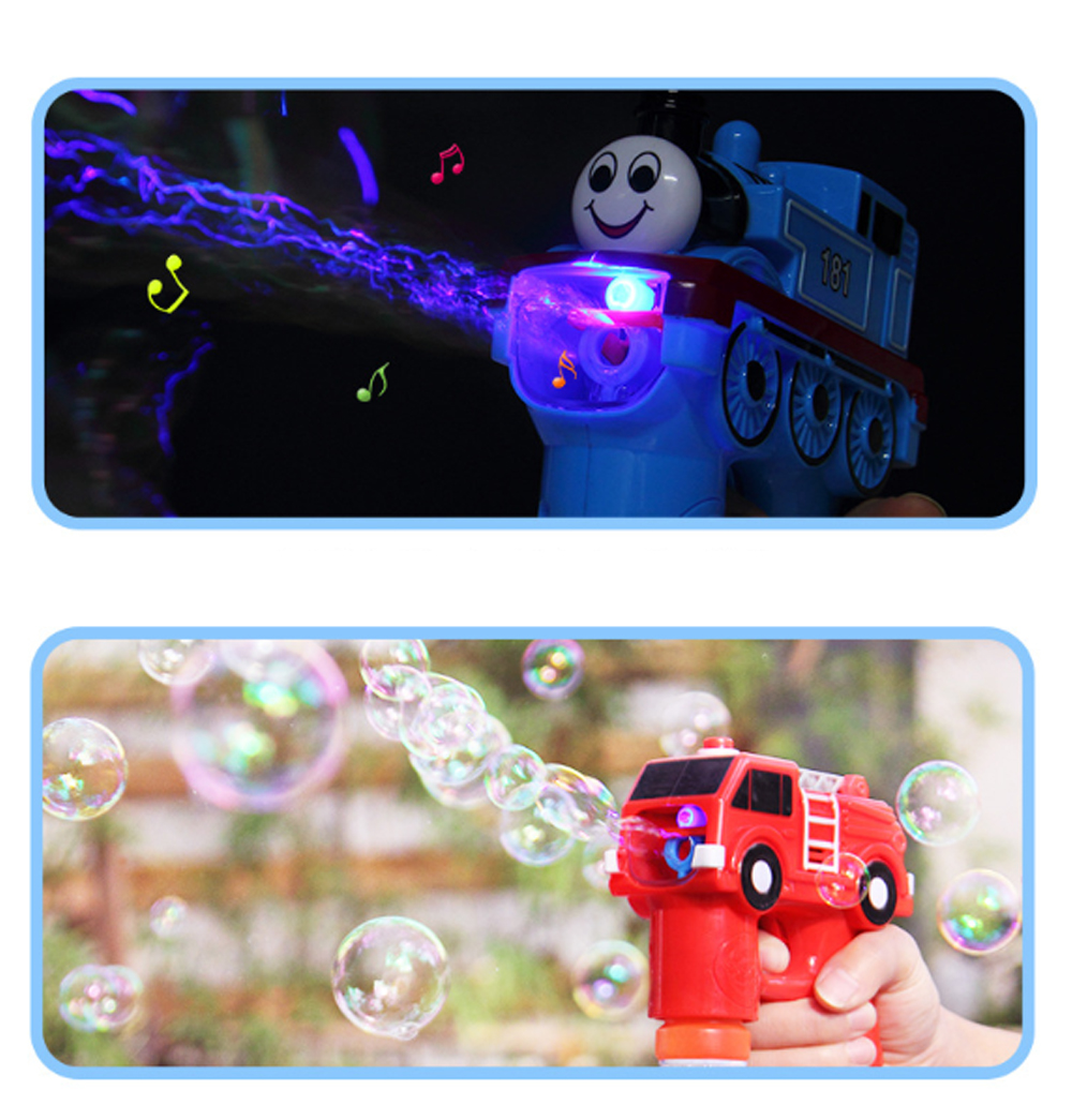 Bubble Gun Toy For Blowing Bubble, Led Bubble Gun With Electric Music 3