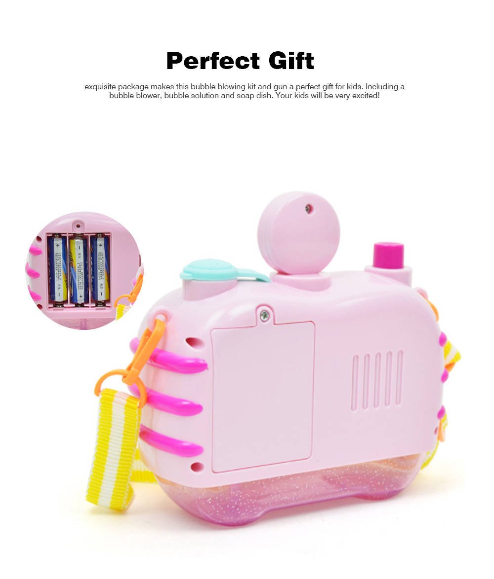 Sea Star Bubble Camera Light Music Electric Blowing Bubble Square Toy for Children to Play 5