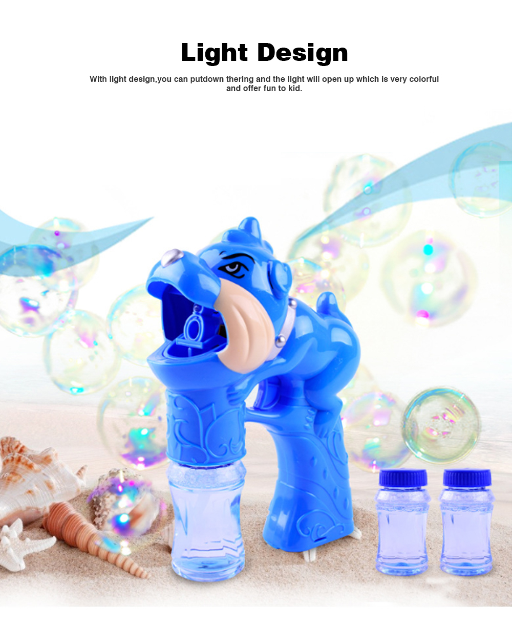 Children's Electric Bubble Gun, Glowing Music Blowing Bubble Toy, Automatic Bubble Machine With Bubble Water 2
