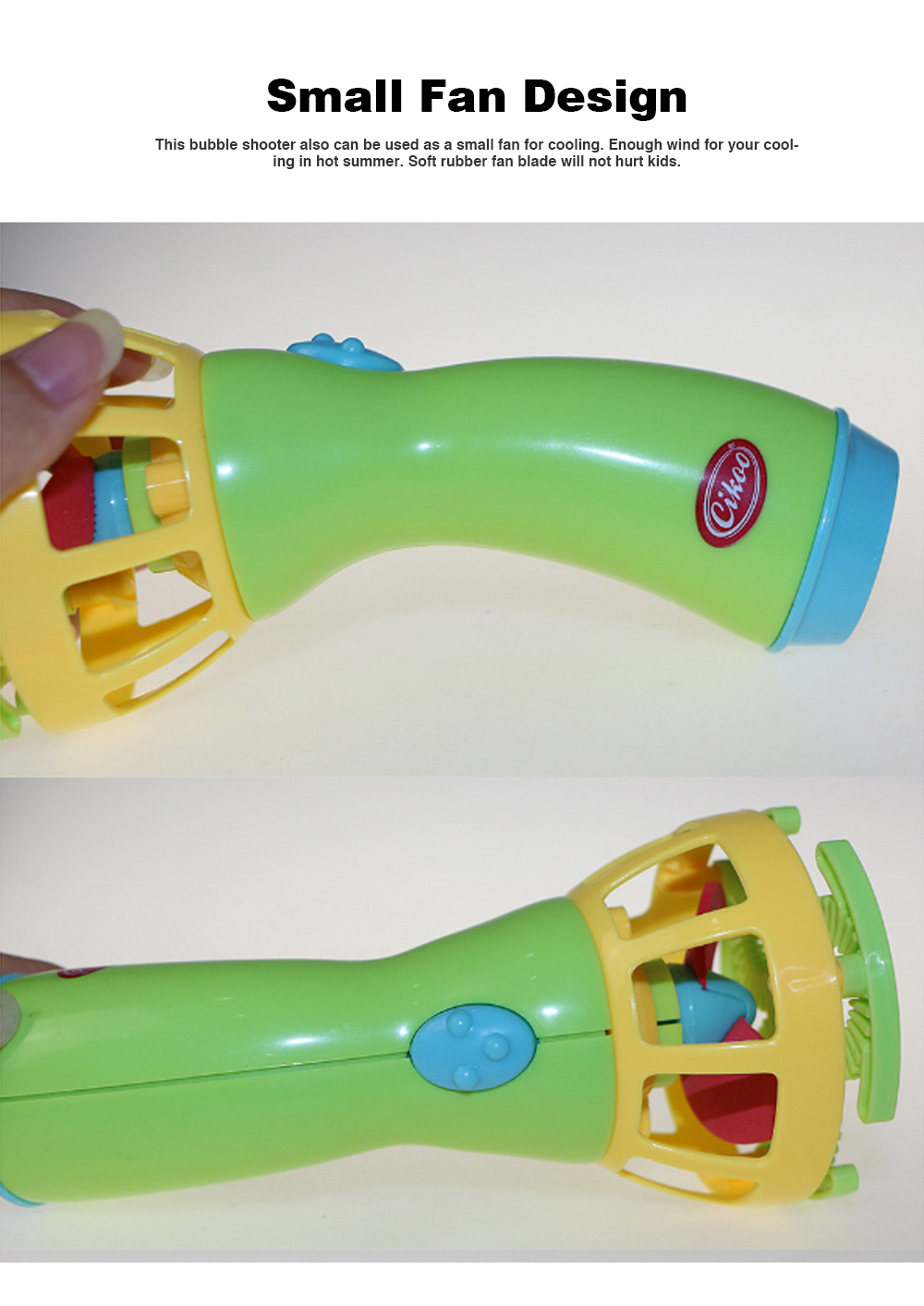 Bubble Gun Shooter Electric Toy Blaster with 5 Barrels, Leak Resistant Bubble Machine with Small Fan for Kids to Cooling 2