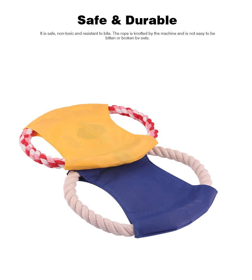 Pet Dog Cotton Rope Waterproof Pet Frisbee, Color Canvas Bite Dog Discs for Pet Training 5