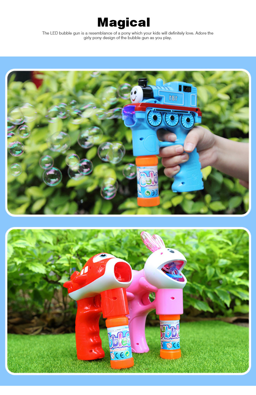 Bubble Gun Toy For Blowing Bubble, Led Bubble Gun With Electric Music 5