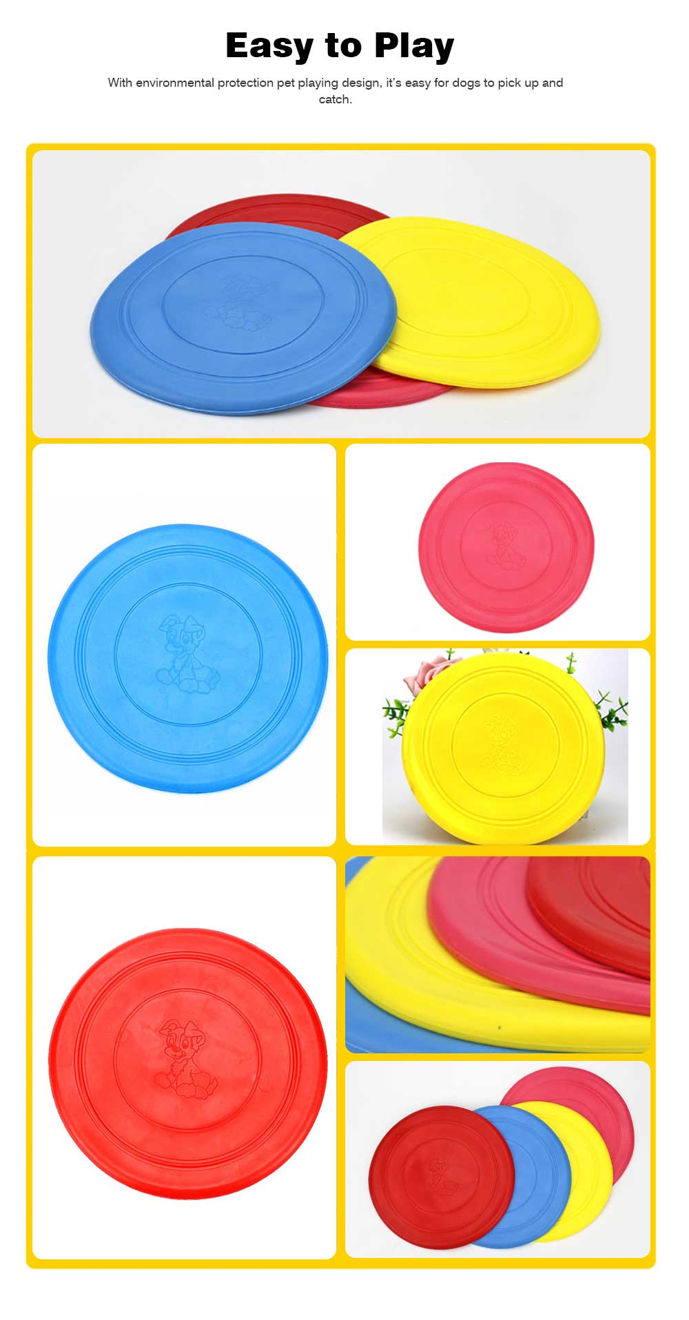 Dog Silicone Soft Frisbee Toy Bite Resistant for Throwing Interactive Pets Training Outdoors 6