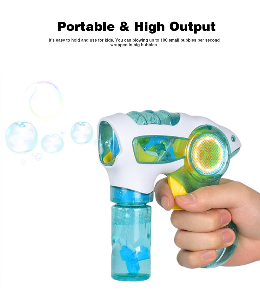Manual Magical Children's Bubble Gun Toys with Colorful Light for Kids Enjoy Summer Fun 2