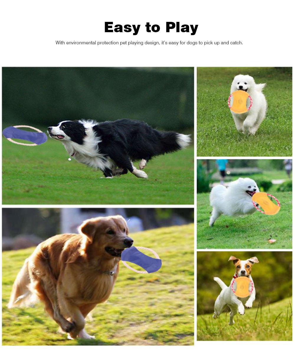 Pet Dog Cotton Rope Waterproof Pet Frisbee, Color Canvas Bite Dog Discs for Pet Training 6