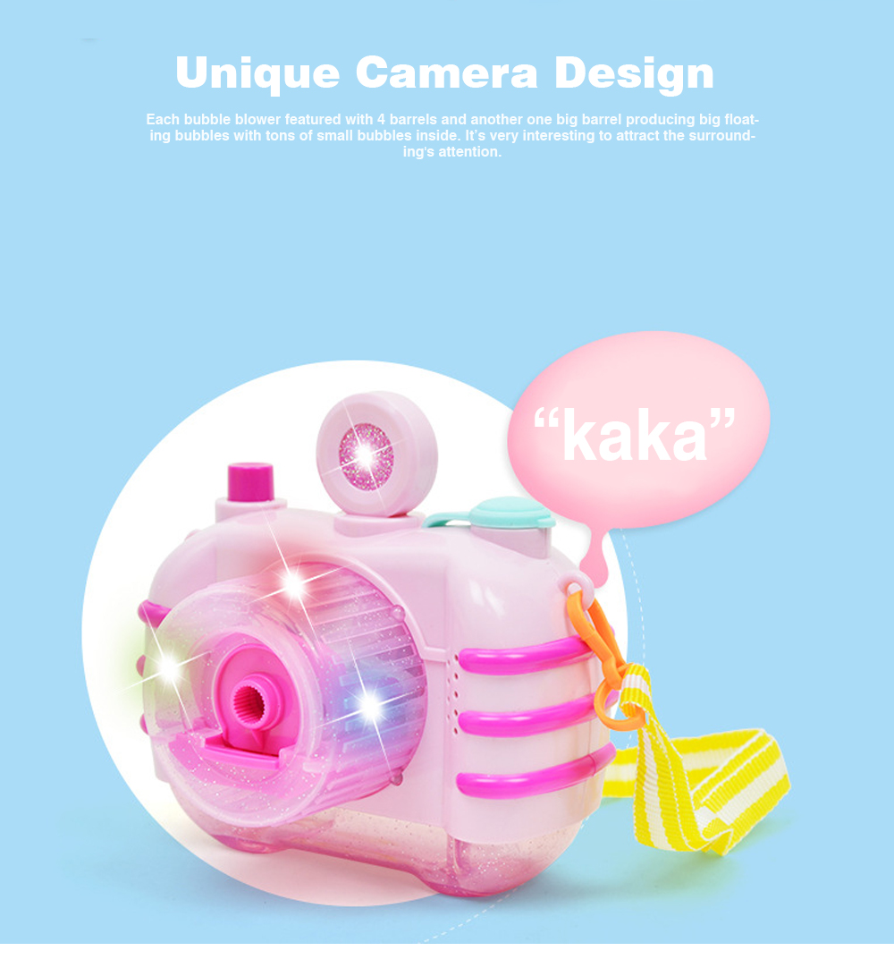 Sea Star Bubble Camera Light Music Electric Blowing Bubble Square Toy for Children to Play 1