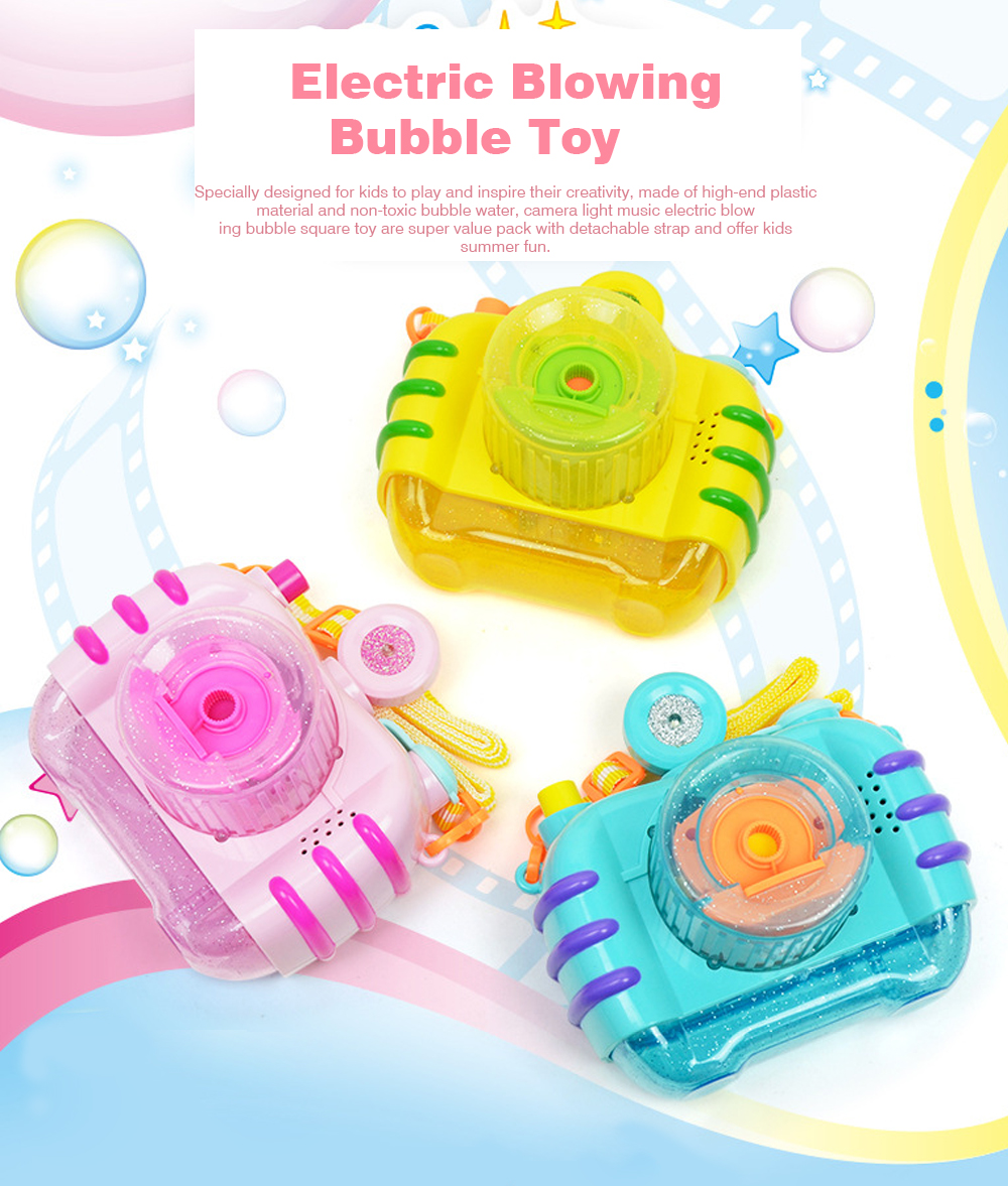Sea Star Bubble Camera Light Music Electric Blowing Bubble Square Toy for Children to Play 0