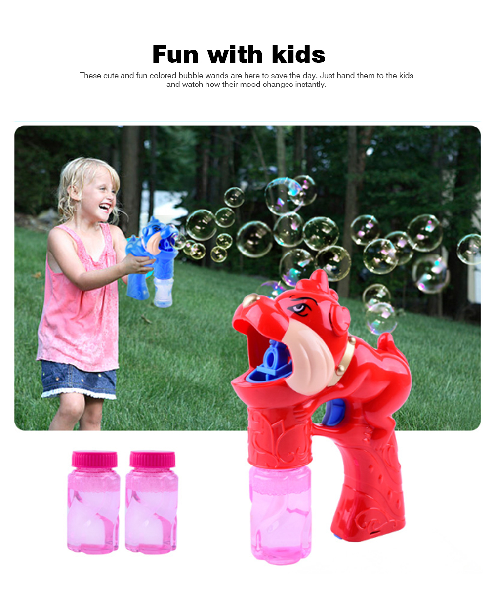 Children's Electric Bubble Gun, Glowing Music Blowing Bubble Toy, Automatic Bubble Machine With Bubble Water 4