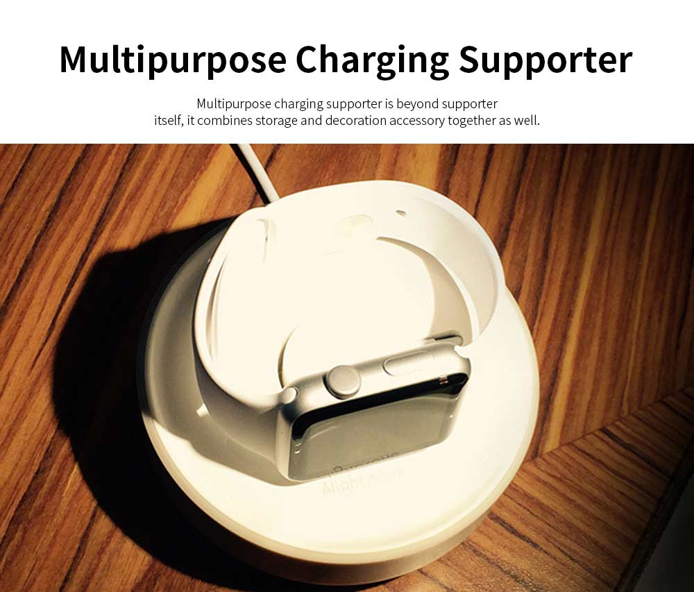 Charging Base Supporter for iWatch, iWatch Charging Stand Charger Supporter on Table or Bedside 4