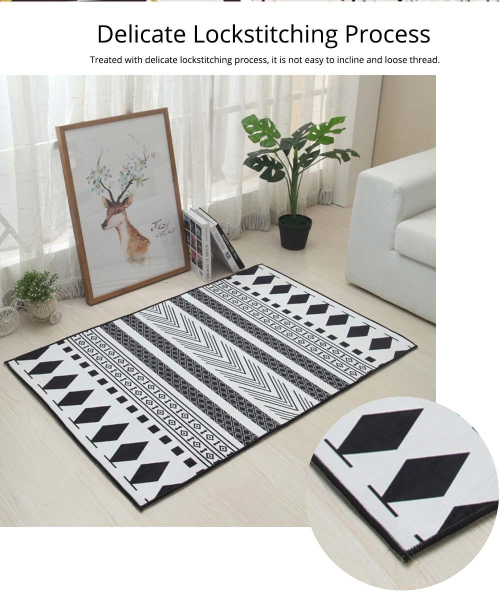 Non-slip Rugs, 3D Geometric Carpet, Modern Floor Mat for Living Room, Bedroom 4