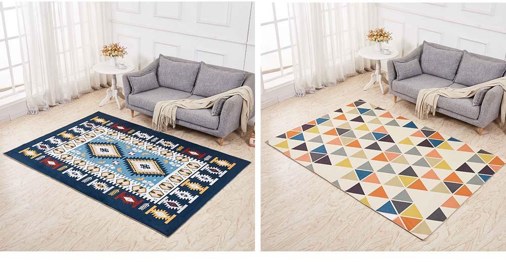 Non-slip Rugs, 3D Geometric Carpet, Modern Floor Mat for Living Room, Bedroom 7