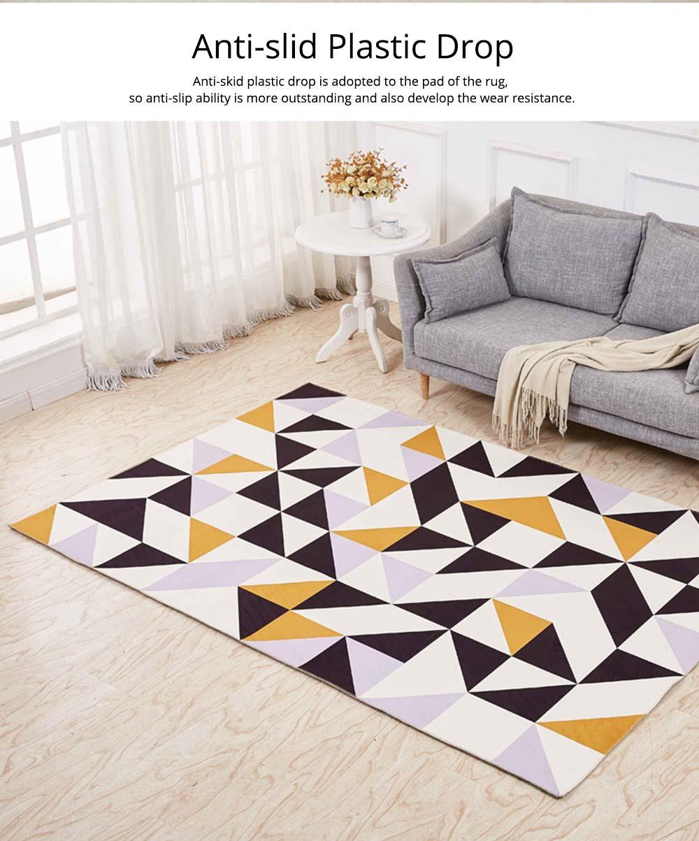 Non-slip Rugs, 3D Geometric Carpet, Modern Floor Mat for Living Room, Bedroom 2