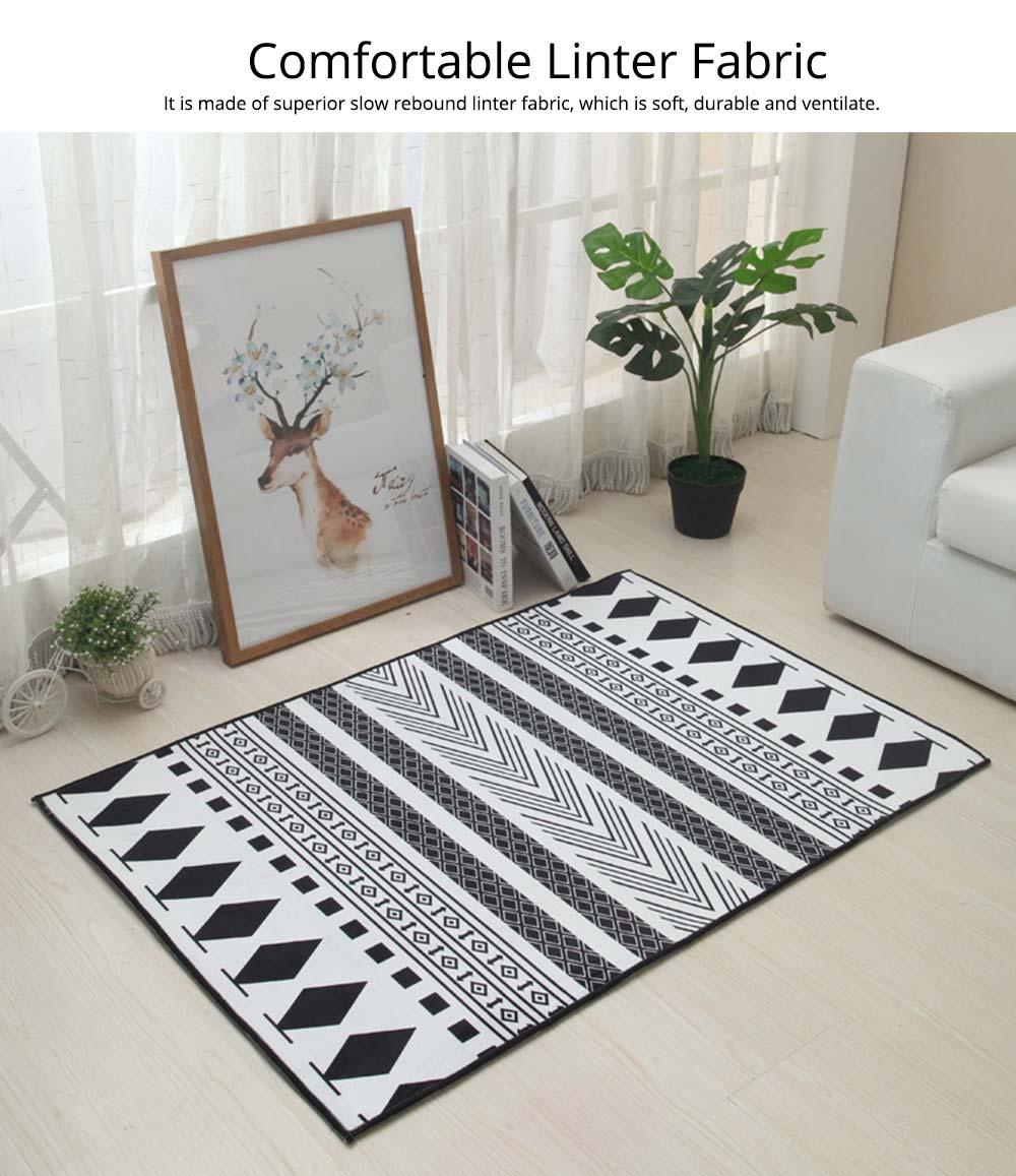 Non-slip Rugs, 3D Geometric Carpet, Modern Floor Mat for Living Room, Bedroom 1