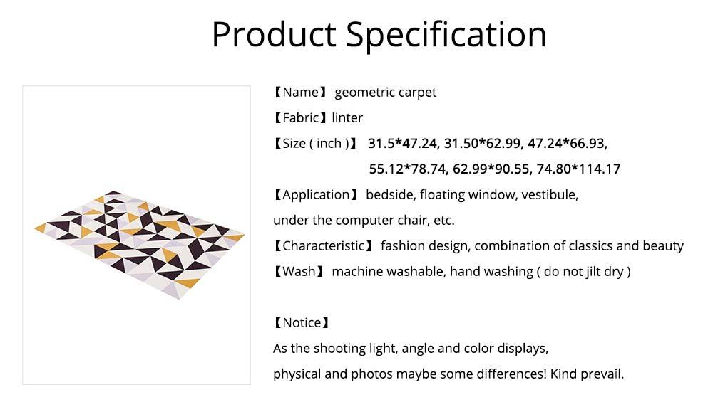 Non-slip Rugs, 3D Geometric Carpet, Modern Floor Mat for Living Room, Bedroom 8