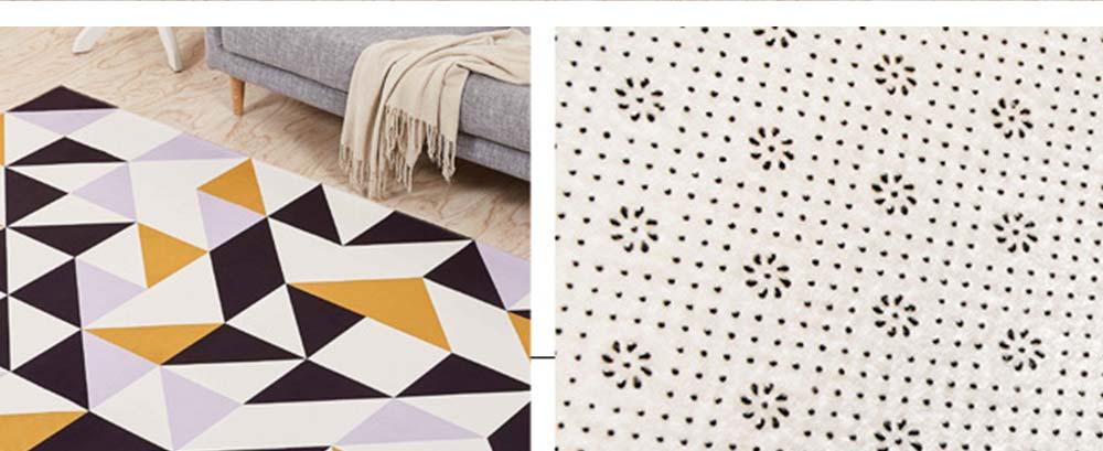 Non-slip Rugs, 3D Geometric Carpet, Modern Floor Mat for Living Room, Bedroom 3