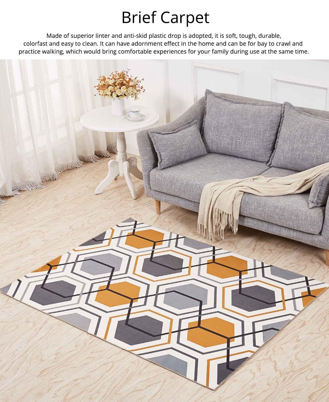 Non-slip Rugs, 3D Geometric Carpet, Modern Floor Mat for Living Room, Bedroom 0