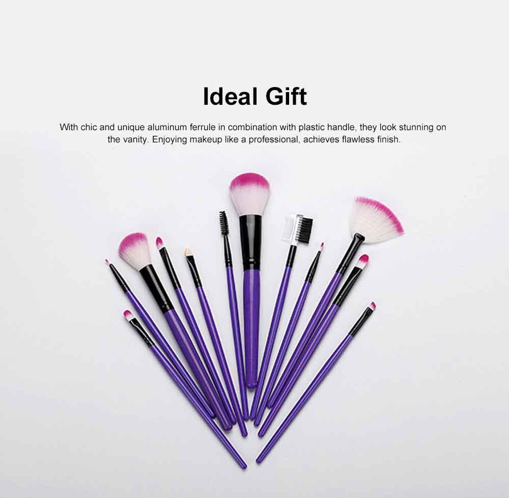 12PCS Makeup Brushes Set Makeup Brushes for Eye-shadow Concealer Eyeliner Brow Blending Brush Cosmetic Tool 6