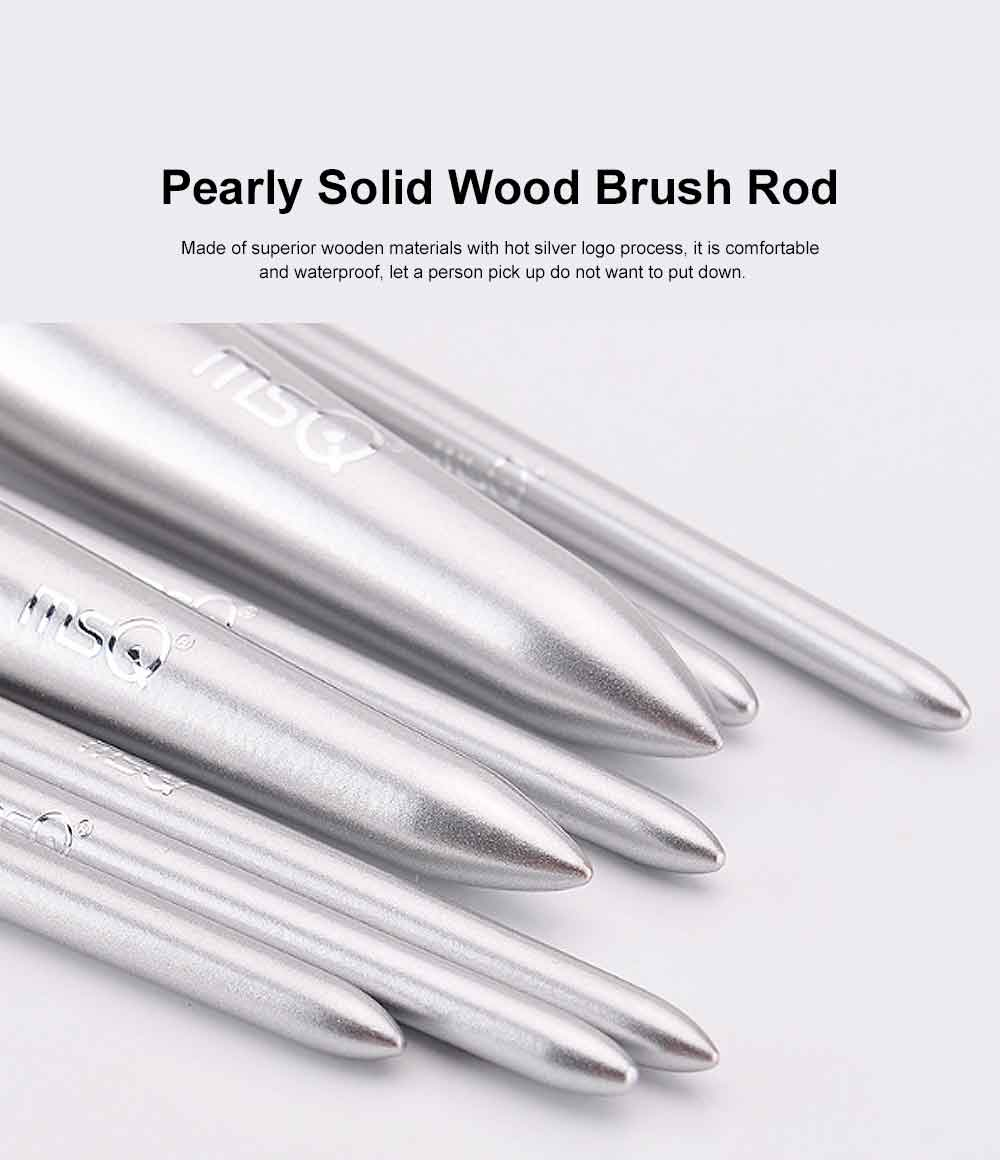 8PCS Makeup Brushes Set with Pearly Solid Wood Brush Rod and Brush Barrels 3