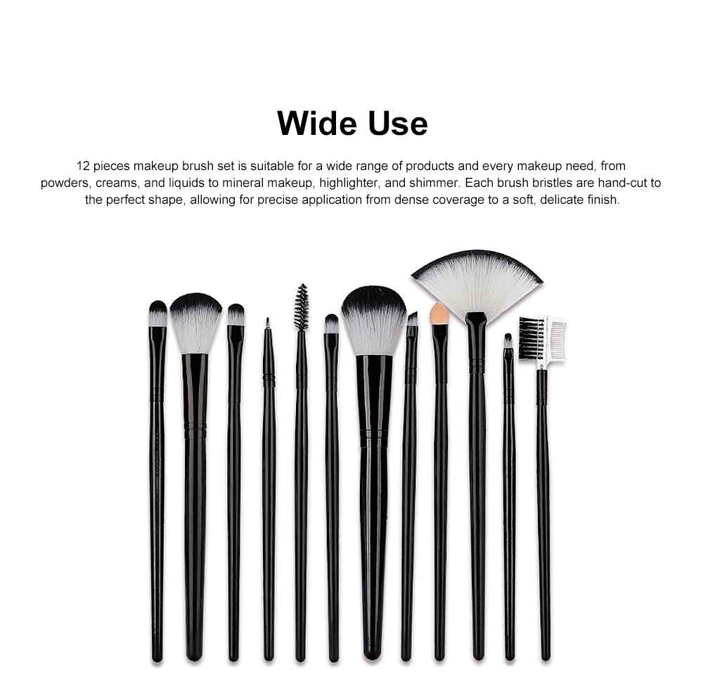 Professional Eye Makeup Brushes Set, 12PCS Makeup Brush Set with Brush Barrels for women 4