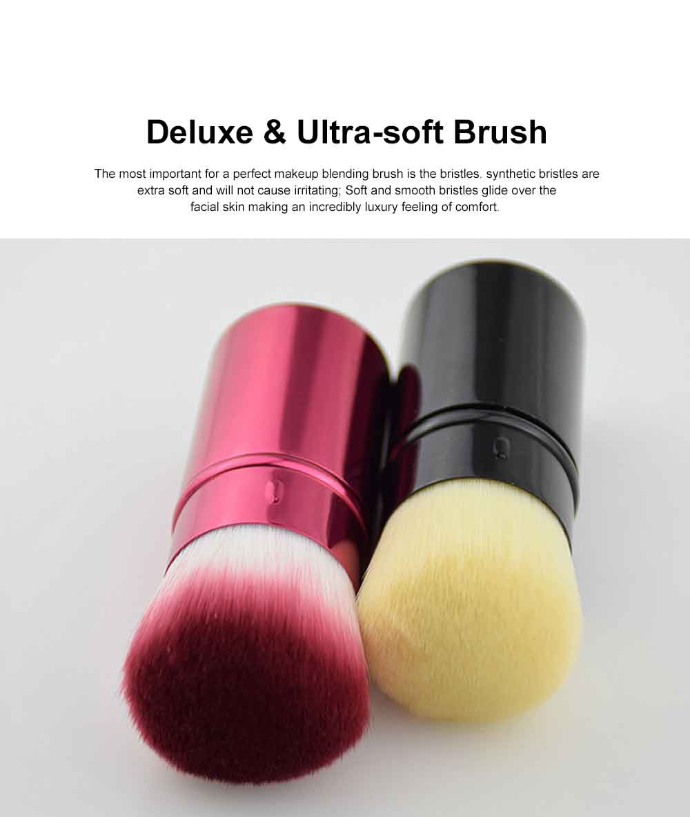 Retractable Makeup Blush Brush Blending Powder, Ultra-soft and Portable Cosmetic Tools for Women 1