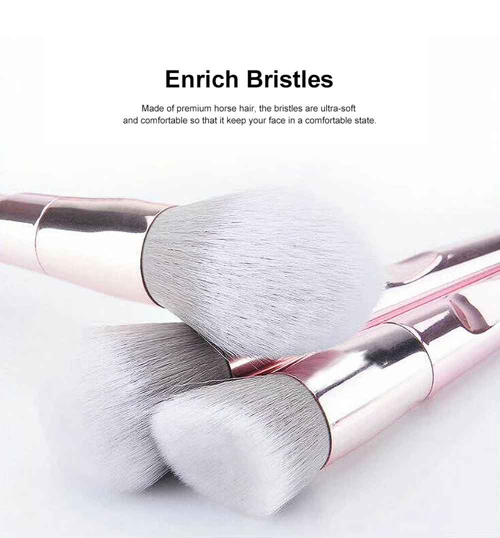 Professional Makeup Brush Sets 2019, Portable Makeup Brush With Leather Cosmetic Bag, 10PCS 1